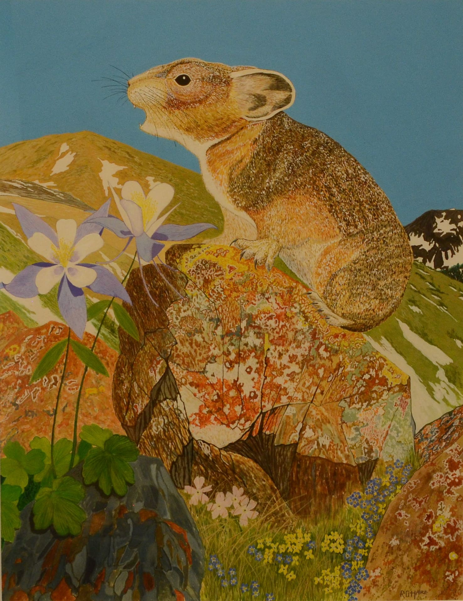 Bob Hare and Pika Painting