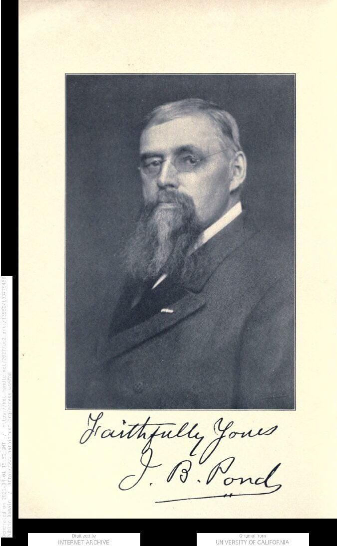 James B. Pond Writes About Seton